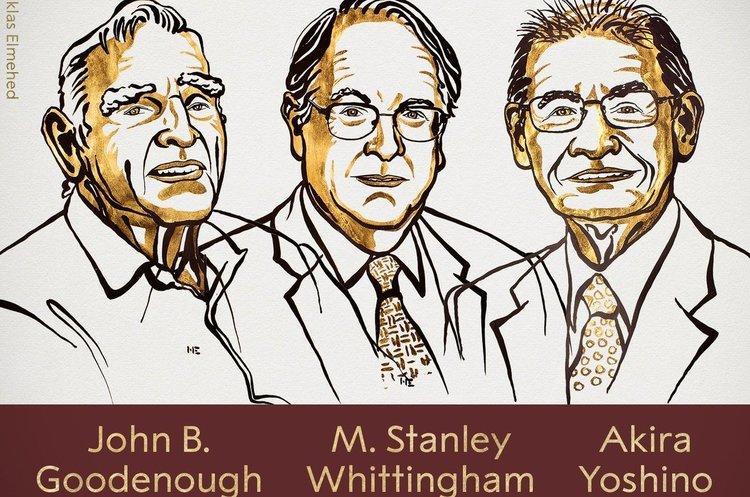 Нобелівську премію з хімії вручили за «розробку літій-іонних батарей»