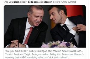 Ердоган порадив Макрону «перевірити свій мозок, а не мозок НАТО»