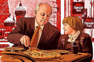 Горбачов знявся в рекламі піци за $1 млн (ВІДЕО)