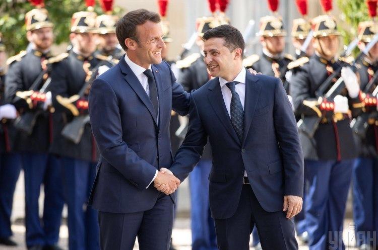 Завершилася двостороння зустріч президентів України та Франції