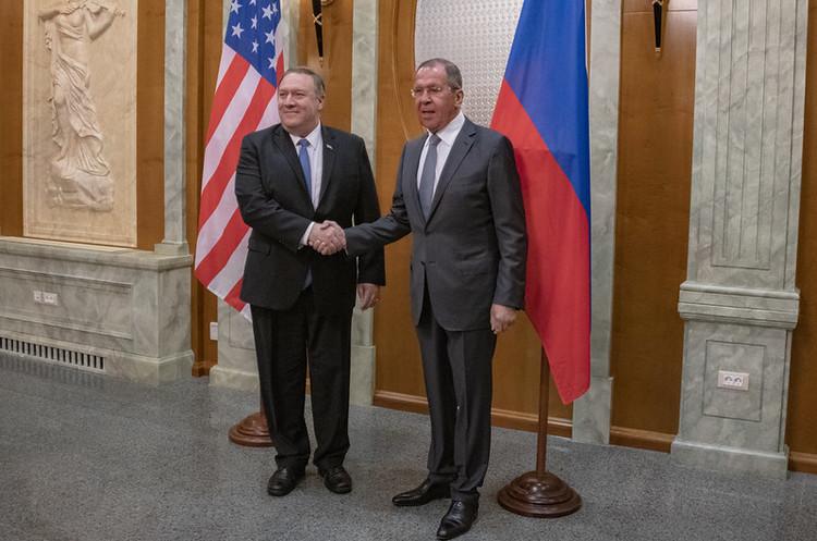Лавров та Помпео почали переговори у Вашингтоні