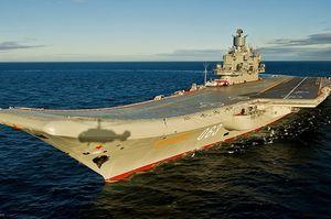 На російському авіаносному крейсері сталася пожежа, є постраждалі