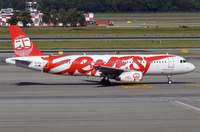 Регулятор Італії припинив дію ліцензії авіакомпанії Ernest Airlines, яка літала в Україну