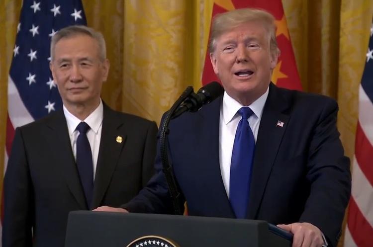 США і Китай підписали першу фазу угоди, торгова війна на паузі