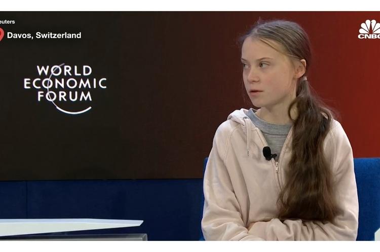 «Дійте так, наче більше за все на світі ви любите своїх дітей» - Грета Тунберг у Давосі