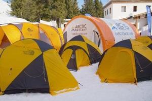 У Давосі кліматичні активісти розмістилися в наметах на морозі