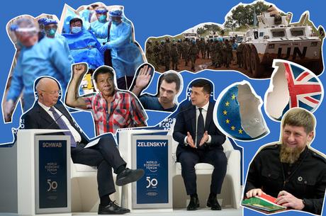 Геополітичний огляд тижня: Зеленський у Давосі, німці в «Укрзалізниці», протести в РФ та вірус у Китаї