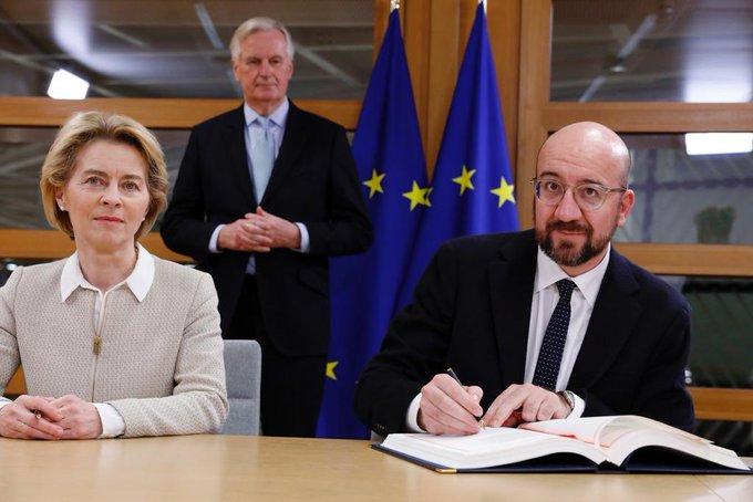 В Брюсселі підписали угоду про вихід Британії з ЄС