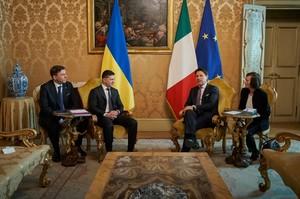 Зеленський попросив італійського прем'єра закрити офіси «ДНР/ЛНР» в Італії