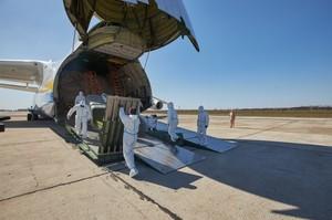 Літак «Мрія» доставив в Україну з Китаю медичний вантаж у 100 тонн