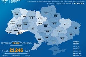 В Україні виявлено 259 нових випадків коронавірусу за останню добу