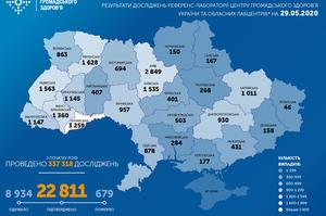 В Україні виявлено 429 нових випадків коронавірусу за останню добу