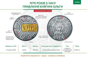 НБУ проведе аукціон із продажу монет «1075 років з часу правління княгині Ольги»