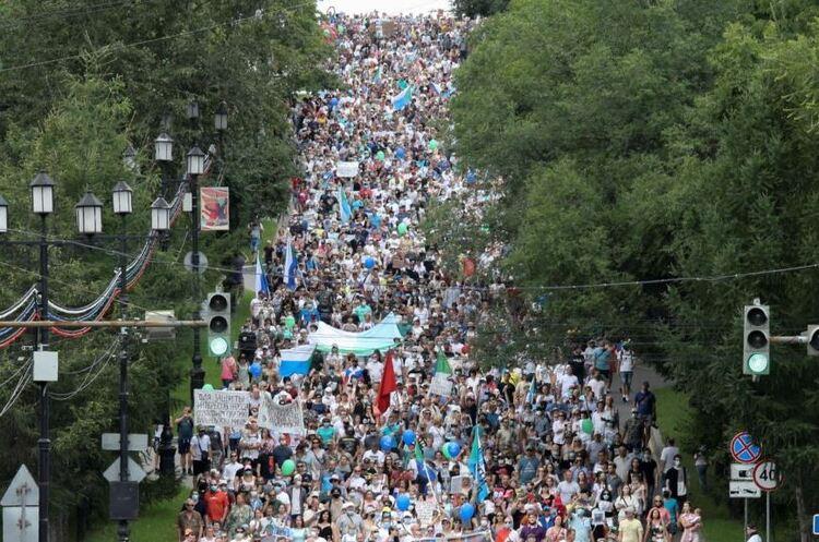 У Хабаровську 15 днів тривають мітинги