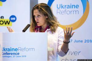 Канадійка українського походження Христя Фріланд очолила Міністерство фінансів Канади