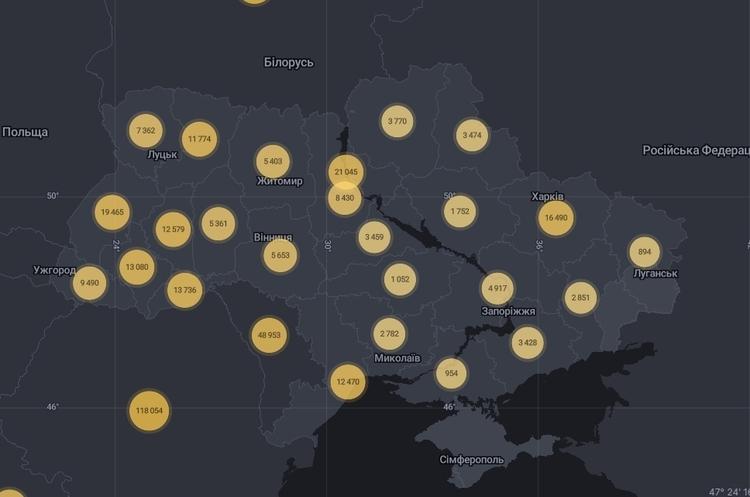 В Україні за добу – 3 565 випадків коронавірусу