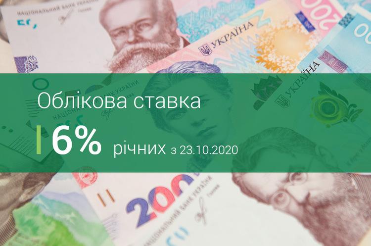 НБУ зберіг облікову ставку на рівні 6%