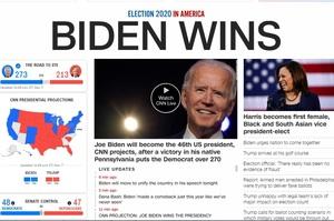 CNN, AР і Bloomberg повідомили про перемогу Байдена на виборах в США