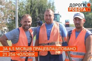 «Укравтодор» у межах проєкту «Дороги та робота» працевлаштував понад 21 000 осіб