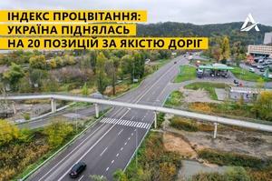 Україна піднялася на 20 позицій за якістю доріг у міжнародному рейтингу The Legatum Prosperity Index