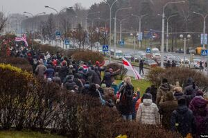«Марш сусідів» у Білорусі: силовики застосовували світлошумові гранати й газ
