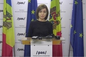 Президент Молдови Майя Санду заявила про спробу захопити владу і закликала вийти на протест