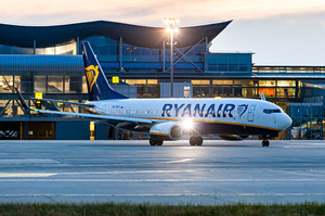 Наприкінці березня Ryanair запускає 18 маршрутів з України