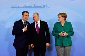 Офіс президента прокоментував переговори Меркель, Макрона та Путіна щодо Донбасу без Зеленського