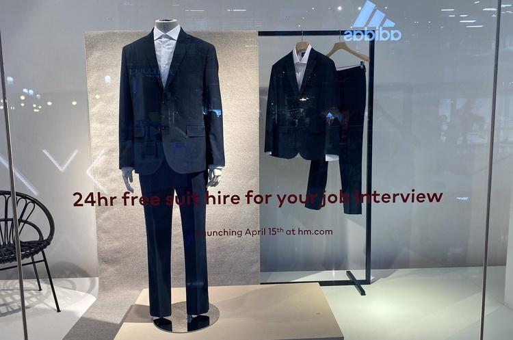 H&M у Великобританії запустила безкоштовний прокат чоловічих костюмів для співбесід