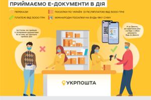 «Укрпошта» дозволила використання e-документів у «Дії» для оплати платежів