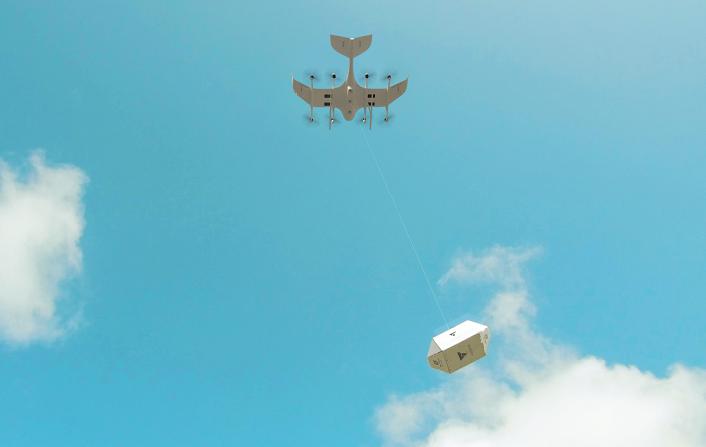 Безпілотники німецького стартапу Wingcopter доставлятимуть по 3 посилки за раз