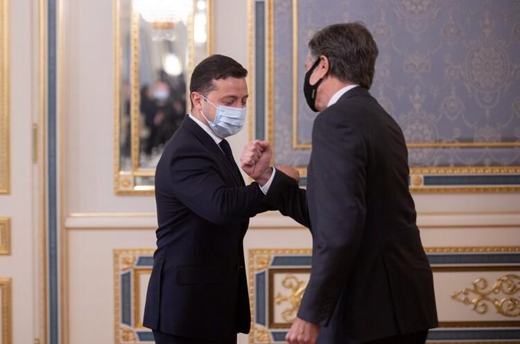 Зеленський та Блінкен обговорювали окупацію українських територій та Nord Stream 2