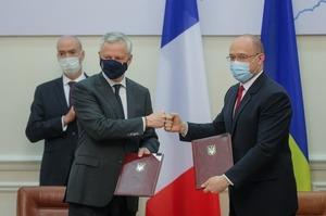 Україна та Франція підписали чотири рамкові угоди на загальну суму понад 1,3 млрд євро