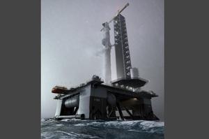 SpaceX купила дві нафтові платформи і готується запустити плавучий космодром