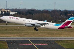 Німецький лоукост Eurowings почне польоти до Києва з вересня