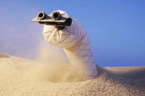 Майже «Дюна»: в США створили підземного робота-черв'яка, який може повзати у м'якому грунті