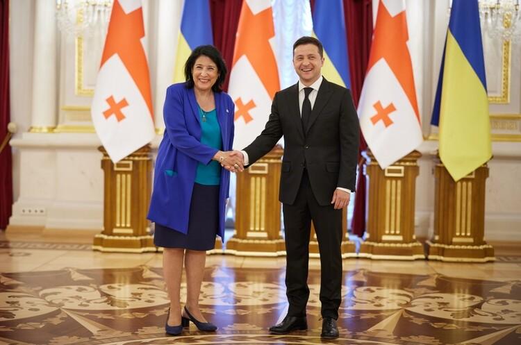 Україна та Грузія планують посилення співробітництва у сфері безпеки в Чорноморському регіоні - Зеленський