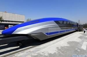 Китай представив потяг на магнітній підвісці зі швидкістю 600 км/год - ЗМІ