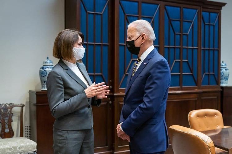 Світлана Тихановська зустрілася з Джо Байденом у Білому домі