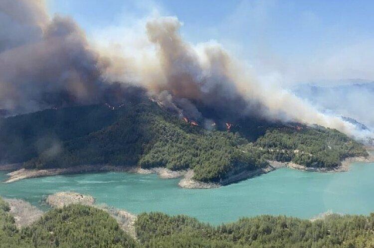 В турецькій Анталії спалахнула масштабна лісова пожежа (ФОТО, ВІДЕО)