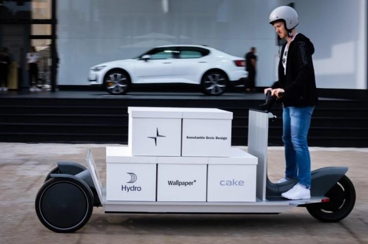 Дочірній бренд Volvo – Polestar - представив прототип вантажного електроскутера
