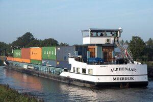 В Нідерландах спустили на воду перше річкове судно, що працює на контейнерних акумуляторах