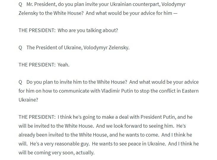 Трамп хоче запросити Зеленського в Білий дім, щоб схилити його домовитися з Путіним